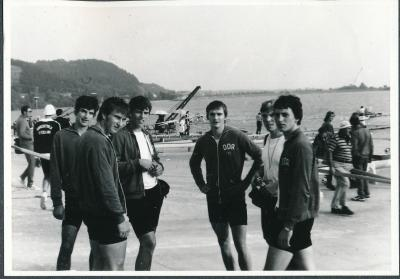 Архивна снимка от Световното първенство за младежи в гребните спортове през 1981 г.