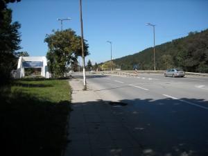 Ул. Самоковско шосе в центъра на Панчарево