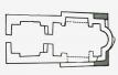 """Схема на основите на черквата """"Св. Илия"""" в крепостта """"Урвич"""""""