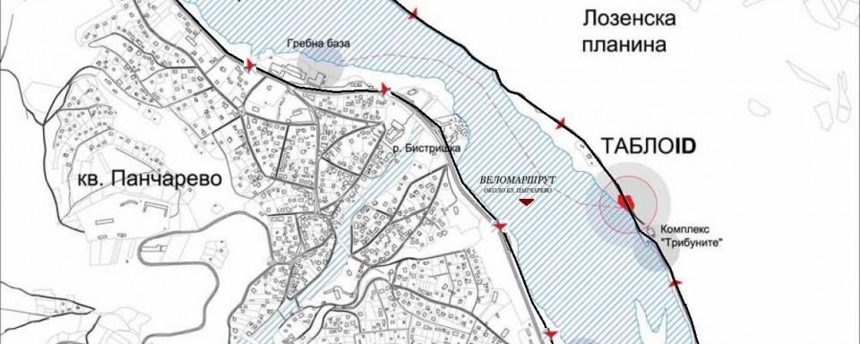 Трасе на бъдещ веломаршрут около Панчаревсото езеро