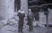 Ктиторът на новата черква Атанас Господинов и Трайчо Стоилов, по време на строежа на новата манастирска черква - 1994г.